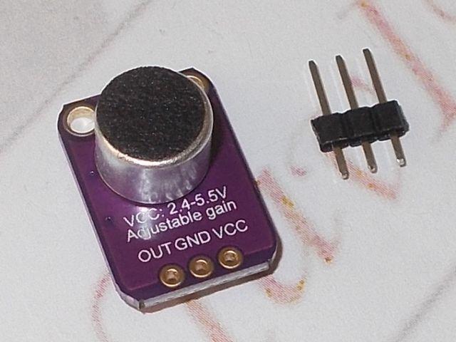 GY-MAX4466 hangérzékelő/erősítő modul (MAX4466)