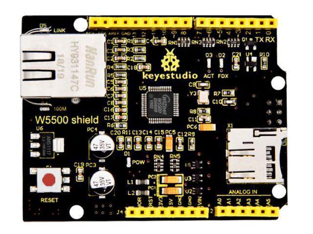 Ethernet Wiznet shield (W5500 chip, LAN)