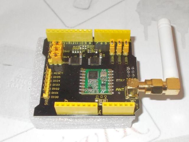 RFM69HCW - Rádió-shield (868MHz, Keyes)